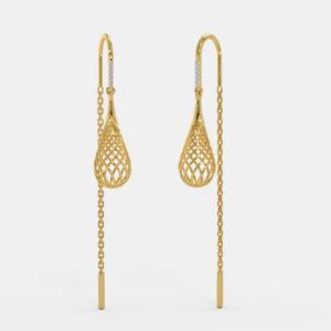 Deepti sui dhaga earrings