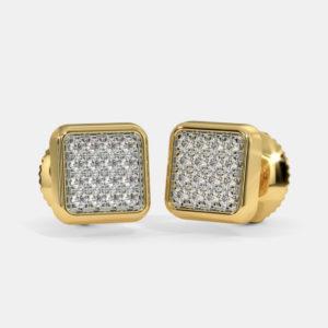 Yareli pave stud earrings
