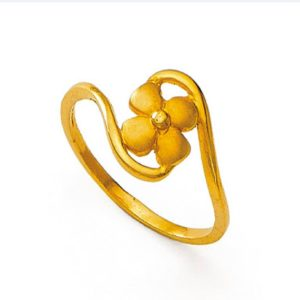Open clover four leaf ring
