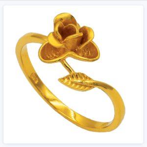 Miracle rose flower ring