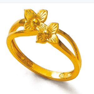 Four leaf blossom ring