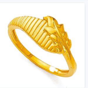 Disgner gold leaf ring