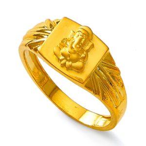 Glorious lord ganesha ring