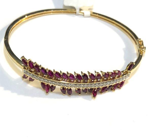 Dancing ruby bracelet