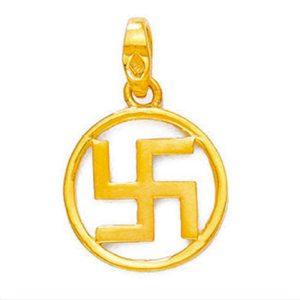 Circlet swastik pendant